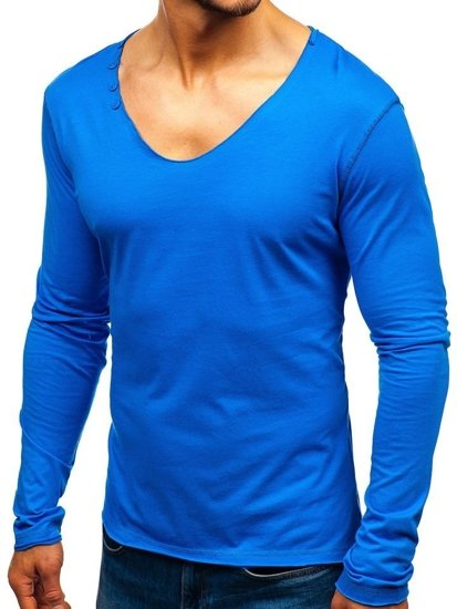 Men's Plain Longsleeve Blue Bolf 547
