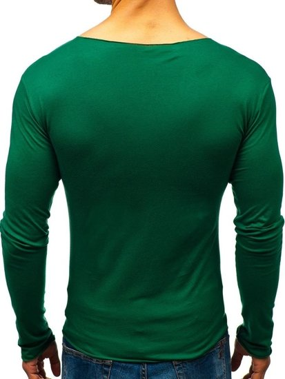Men's Plain Longsleeve Green Bolf 546