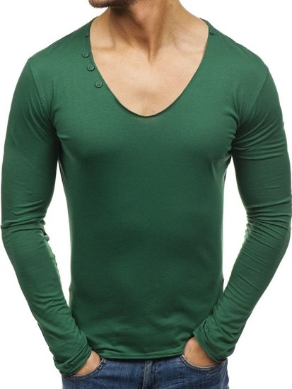 Men's Plain Longsleeve Green Bolf 547