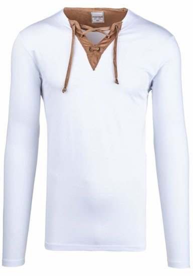 Men's Plain Longsleeve White Bolf 4663