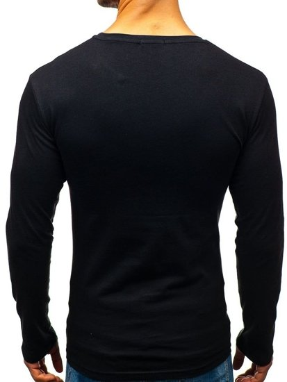 Men's Printed Longsleeve Black Bolf 7337
