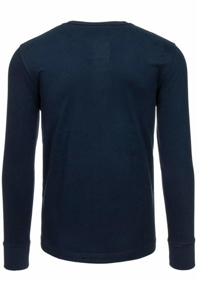 Men's Printed Longsleeve Navy Blue Bolf 6392
