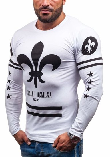 Men's Printed Longsleeve White Bolf 2391