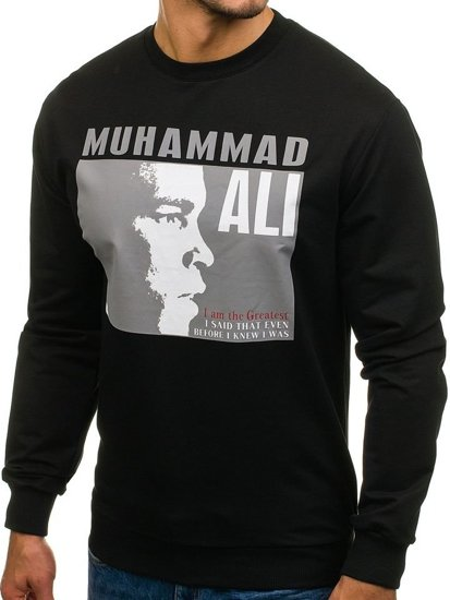 Men's Printed Sweatshirt Black Bolf 0385
