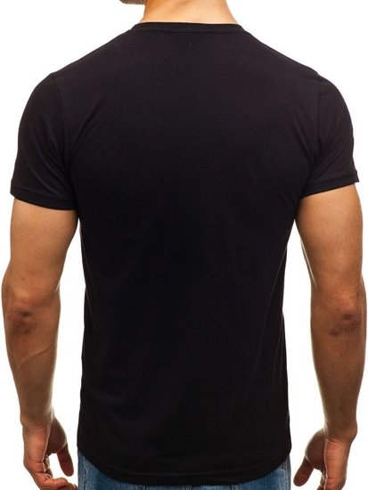 Men's Printed T-shirt Black Bolf 1396