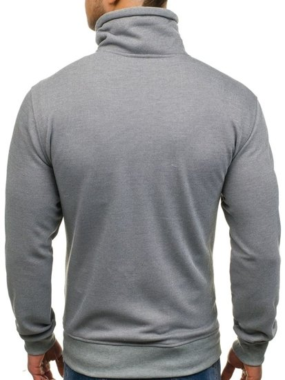 Men's Printed Zip Sweatshirt Grey Bolf 2067