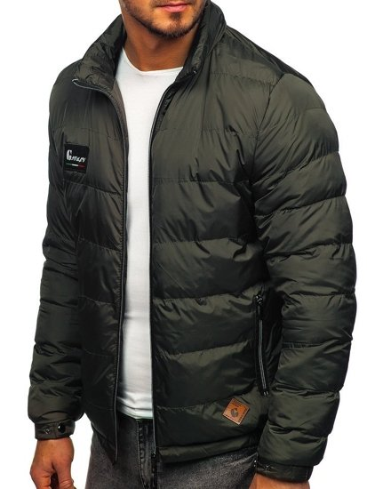 Men's Quilted Transitional Down Jacket Khaki Bolf 50A199