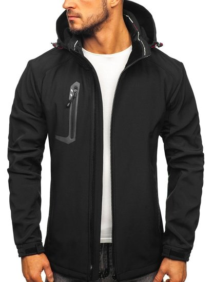 Men's Softshell Jacket Black-Red Bolf 12267