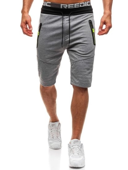 Men's Sweat Shorts Grey Bolf HL8551