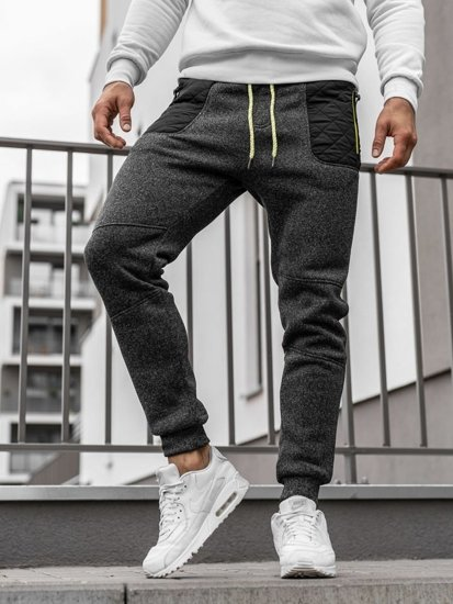 Men's Sweatpants Black-Neon Bolf Q3742