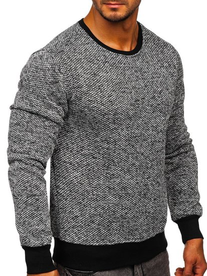 Men's Sweatshirt White-Black Bolf 2001-3