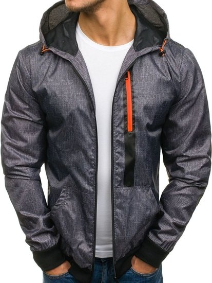 Men's Transitional Jacket Black-Orange Bolf HY193