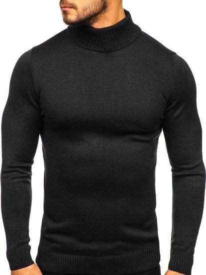 Men's Turtleneck Jumper Black Bolf 4519