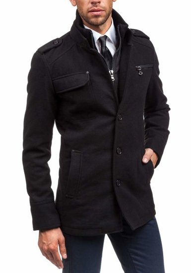 Men's Winter Coat Black Bolf 8856B