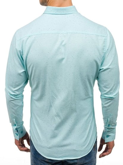 Mint Men's Patterned Long Sleeve Shirt Bolf 6887