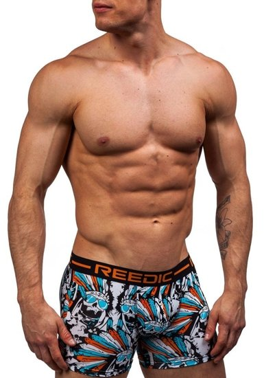 Orange Men's Boxer Shorts Bolf X203