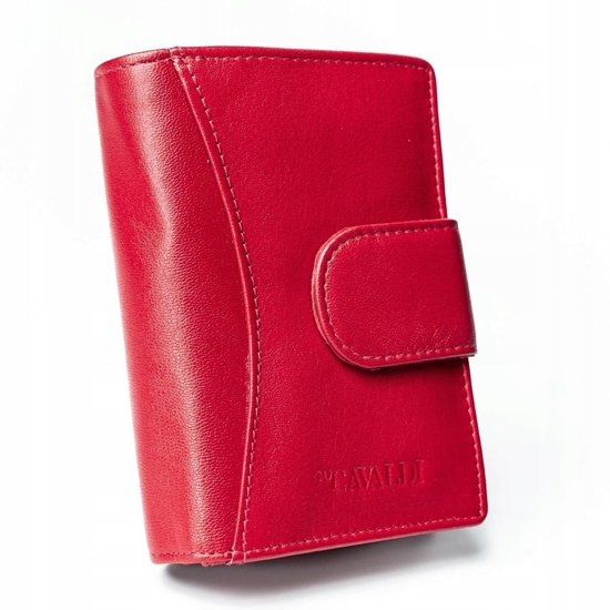 Women's Leather Wallet Red 2417