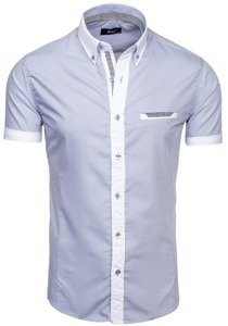 Grey Men's Short Sleeve Shirt Bolf 6538