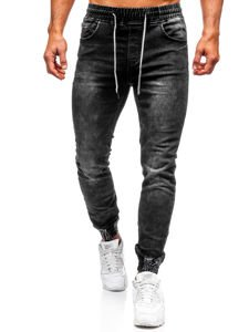 Men's Denim Joggers Black Bolf KA1075