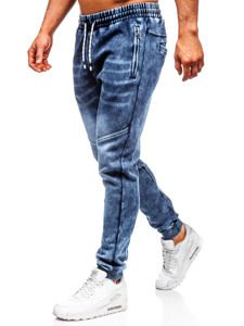 Men's Denim Joggers Navy Blue Bolf KK1056