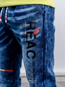 Men's Denim Joggers Navy Blue Bolf KK1060