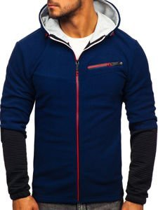 Men's Fleece Hoodie Navy Blue Bolf YL005