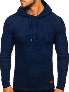 Men's Hooded Jumper Navy Blue Bolf 7004