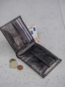 Men's Leather Wallet Black 3190
