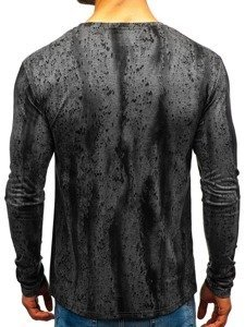 Men's Printed Long Sleeve Top Graphite Bolf 2088L-1
