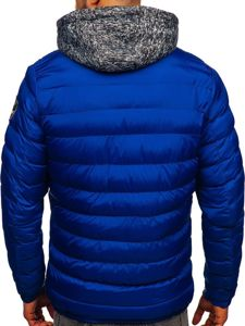 Men's Quilted Transitional Down Jacket Blue  Bolf 50A171