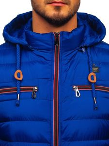 Men's Quilted Transitional Down Jacket Blue Bolf 50A172