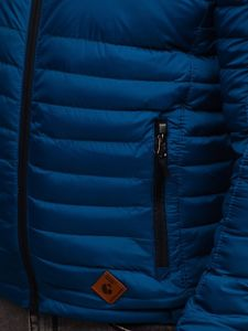 Men's Quilted Transitional Down Jacket Blue Bolf 50A93
