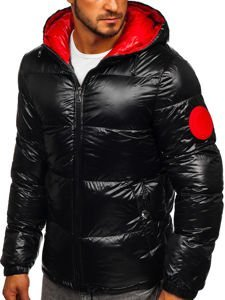 Men's Quilted Winter Jacket Black Bolf 99311