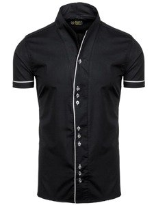 Men's Short Sleeve Shirt Black Bolf 5518