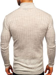 Men's Turtleneck Jumper Beige Bolf 2002