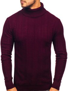 Men's Turtleneck Jumper Claret Bolf 314