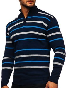 Men's Zip Jumper Navy Blue Bolf W05