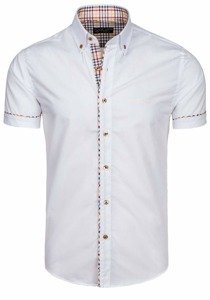 White Men's Elegant Shirt Sleeve Shirt Bolf 5509-1
