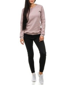 Women's Sweatshirt Pink-Heathered Bolf 67S